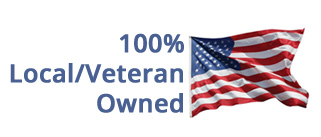 100 percent veteran and local owned